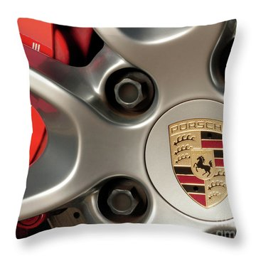Porsche Wheel Detail #1 Throw Pillow