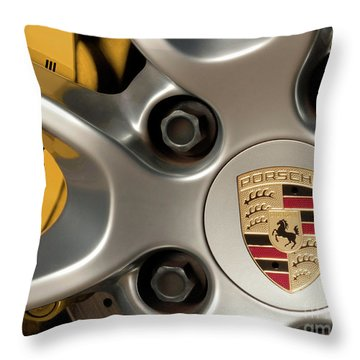 Porsche Wheel Detail #2 Throw Pillow
