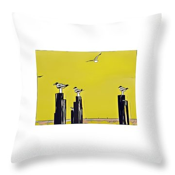 Port A Throw Pillow