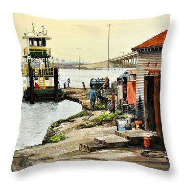 Port Aransas Ways Throw Pillow