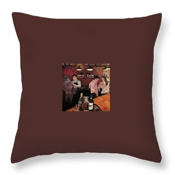 Port Bar Throw Pillow by Julie Todd-Cundiff
