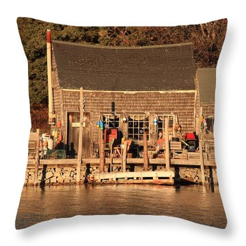 Port Clyde Life 2 Throw Pillow