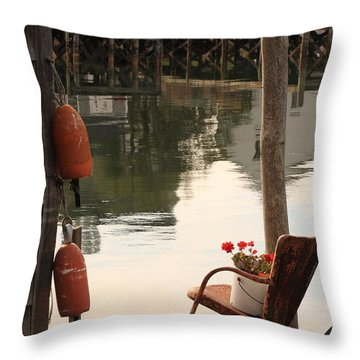 Port Clyde Life Throw Pillow