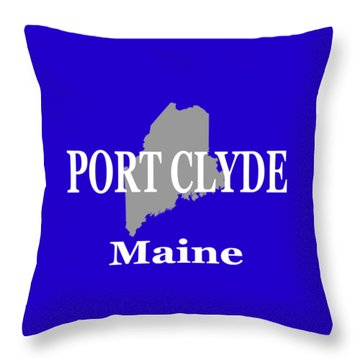 Throw Pillow featuring the photograph Port Clyde Maine State City And Town Pride  by Keith Webber Jr