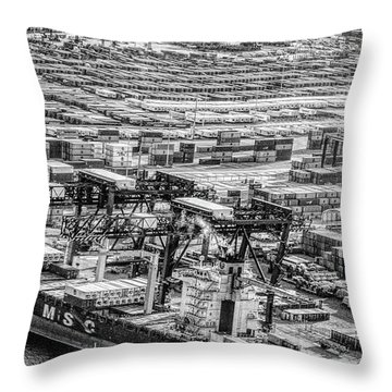 Port Everglades 1 Throw Pillow