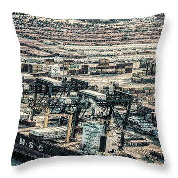Port Everglades 2 Throw Pillow