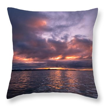 Port Hardy Sunrise Throw Pillow by Michael J Bauer