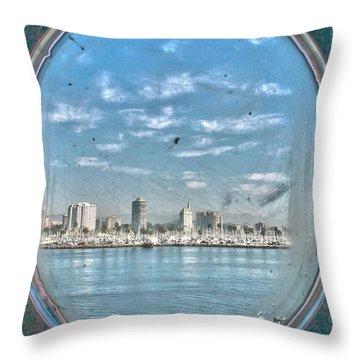 Port Hole  Throw Pillow