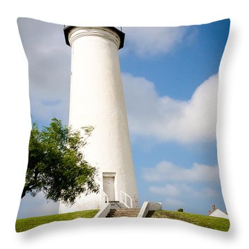 Port Isabel Lighthouse Throw Pillow