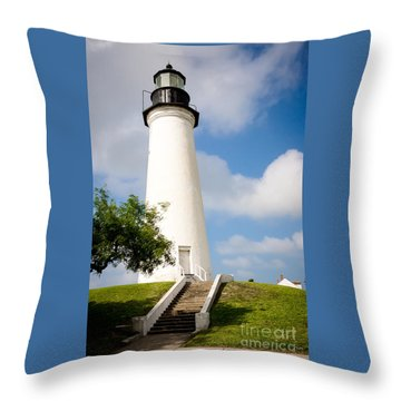 Port Isabel Lighthouse Throw Pillow