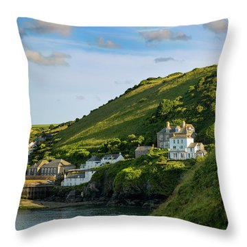 Throw Pillow featuring the photograph Port Issac Hills by Brian Jannsen