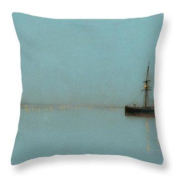 Port Light Throw Pillow by John Atkinson Grimshaw