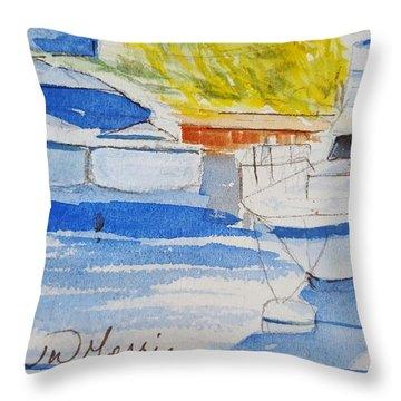 Port Ludlow Marina Throw Pillow