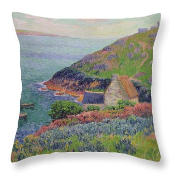 Port Manech Throw Pillow by Henry Moret