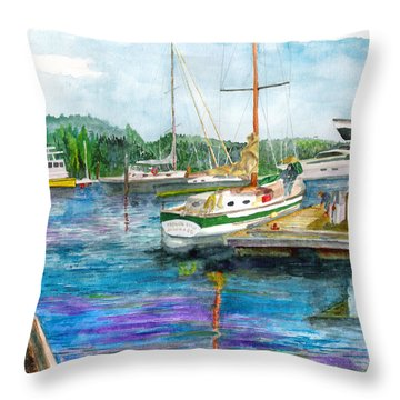 Port Mcneil Bc Throw Pillow