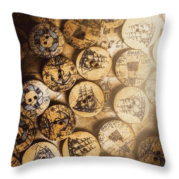 Port Of Corks At The Old Sail Tavern Throw Pillow