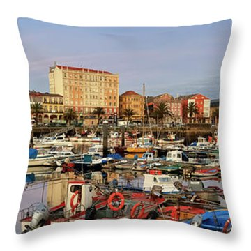 Throw Pillow featuring the photograph Port Of Ferrol Galicia Spain by Pablo Avanzini