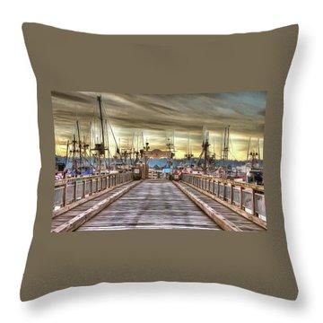 Port Of Newport - Dock 5 Throw Pillow