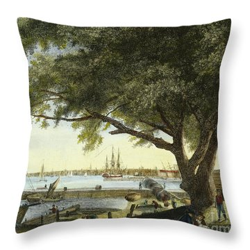 Port Of Philadelphia, 1800 Throw Pillow by Granger