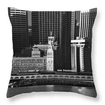Port Of San Francisco Throw Pillow