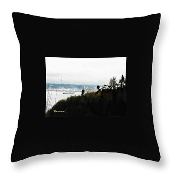 Port Of Tacoma At Ruston Wa Throw Pillow