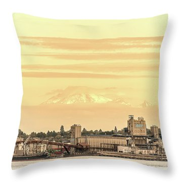 Port Of Vancouver Throw Pillow