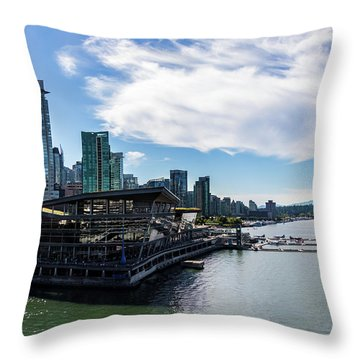 Throw Pillow featuring the photograph Port Of Vancouver by Ed Clark