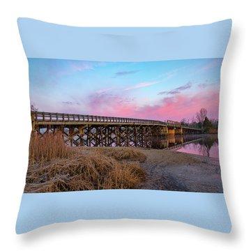 Port Republic Nacote Creek Bridge Throw Pillow