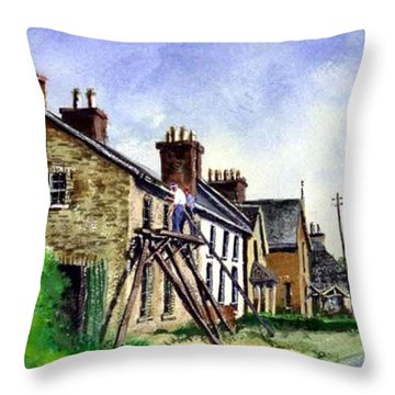 Port Rush Gutter Repair Throw Pillow