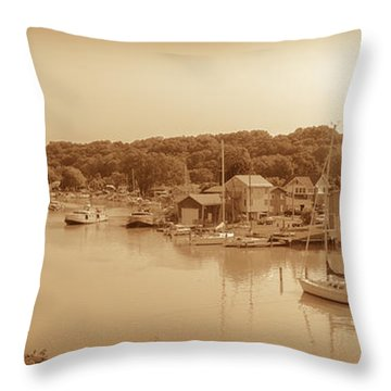 Port Stanley Waterway Throw Pillow