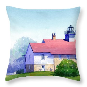 Port Washington Lighthouse Throw Pillow