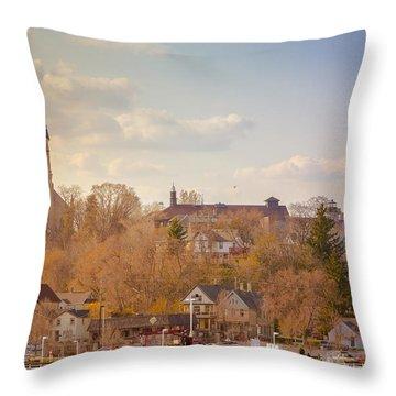 Port Washington Skyline Throw Pillow