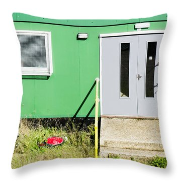 Portable Cabin Throw Pillow