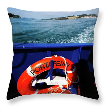 Portaferry Ferry Throw Pillow