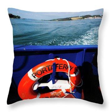 Portaferry Ferry Throw Pillow