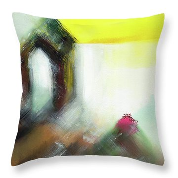 Throw Pillow featuring the painting Portal by Anil Nene
