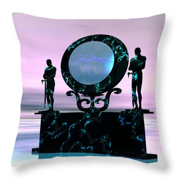 Portal Throw Pillow by Corey Ford