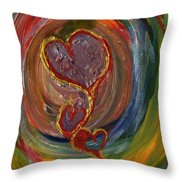 Portal Of Love Throw Pillow