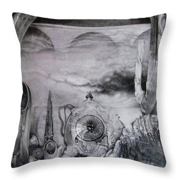 Portal To Bogomils Universe Iv Throw Pillow