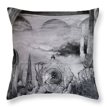 Portal To Bogomils Universe Iv Throw Pillow