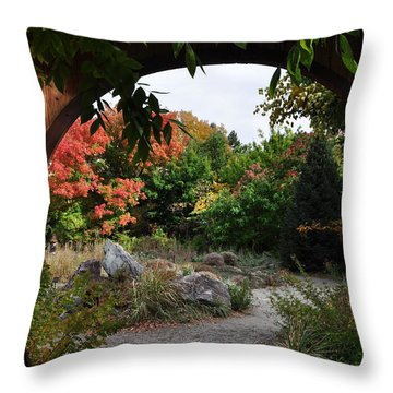 Portal To Paradise Throw Pillow