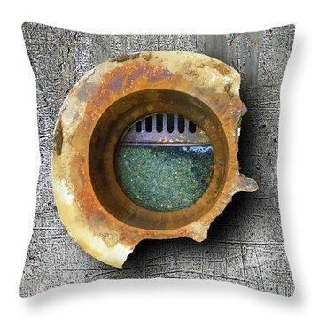 Throw Pillow featuring the mixed media Portal by Tony Rubino