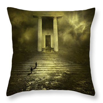Portal Z Throw Pillow by Svetlana Sewell