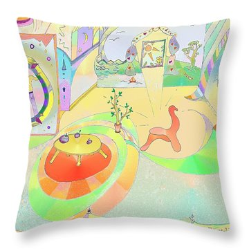 Portals And Perspectives Throw Pillow