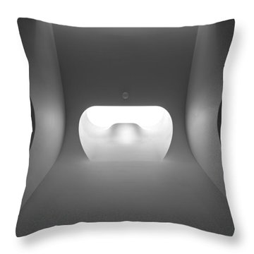 Portals Of White Throw Pillow