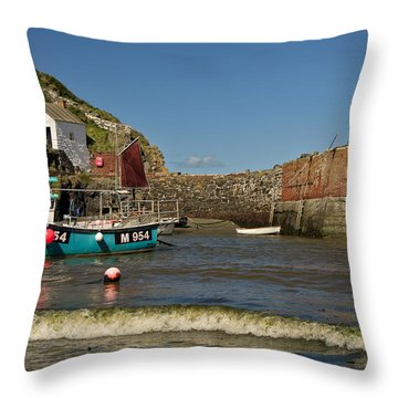 Porthgain In Wales Throw Pillow
