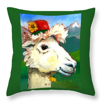 Portland Alpaca Throw Pillow by Susan Thomas