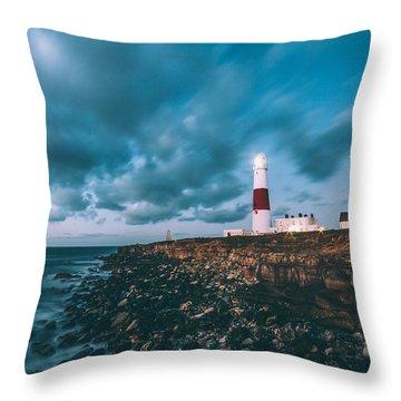 Portland Bill Dorset Throw Pillow