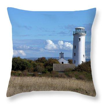 Portland Bird Observatory Throw Pillow by Stephen Melia