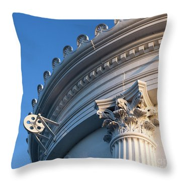 Throw Pillow featuring the photograph Portland Breakwater Light  -58750 by John Bald